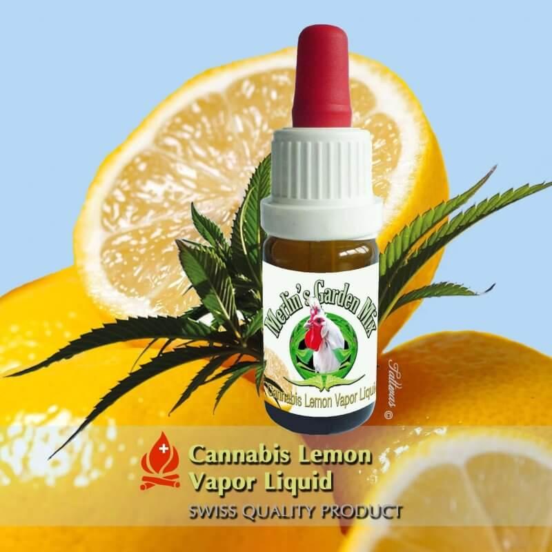 Merlin´s Garden Pure Cannabis + Zitrone Liquid (10 ml)